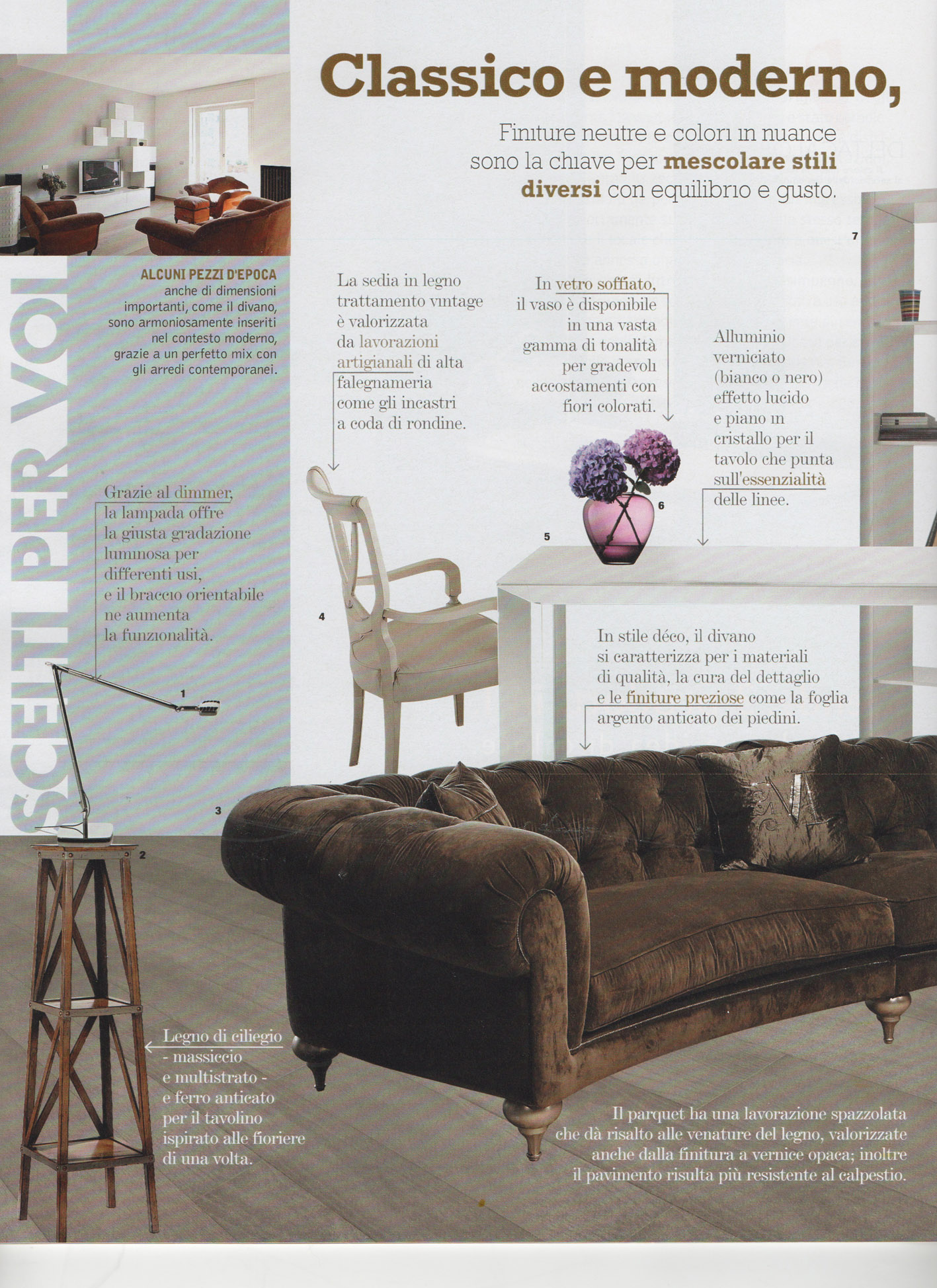 Tavolo Classico Con Sedie wooden parquet flooring decoration&design magazines april