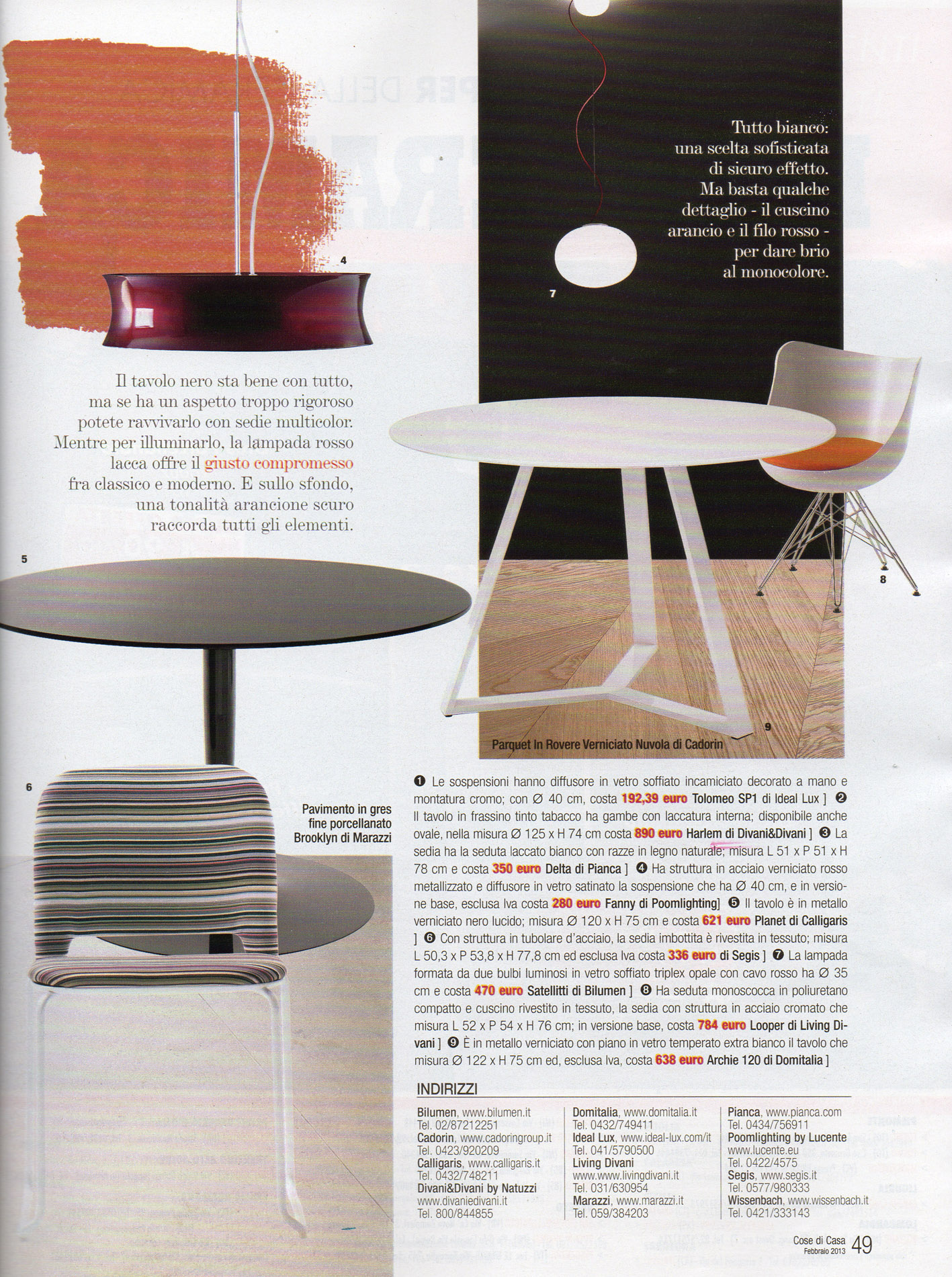 Tavolo Classico Con Sedie wooden parquet flooring decoration&design magazines february