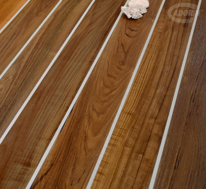 Burmese Teak - with Maple covering strip