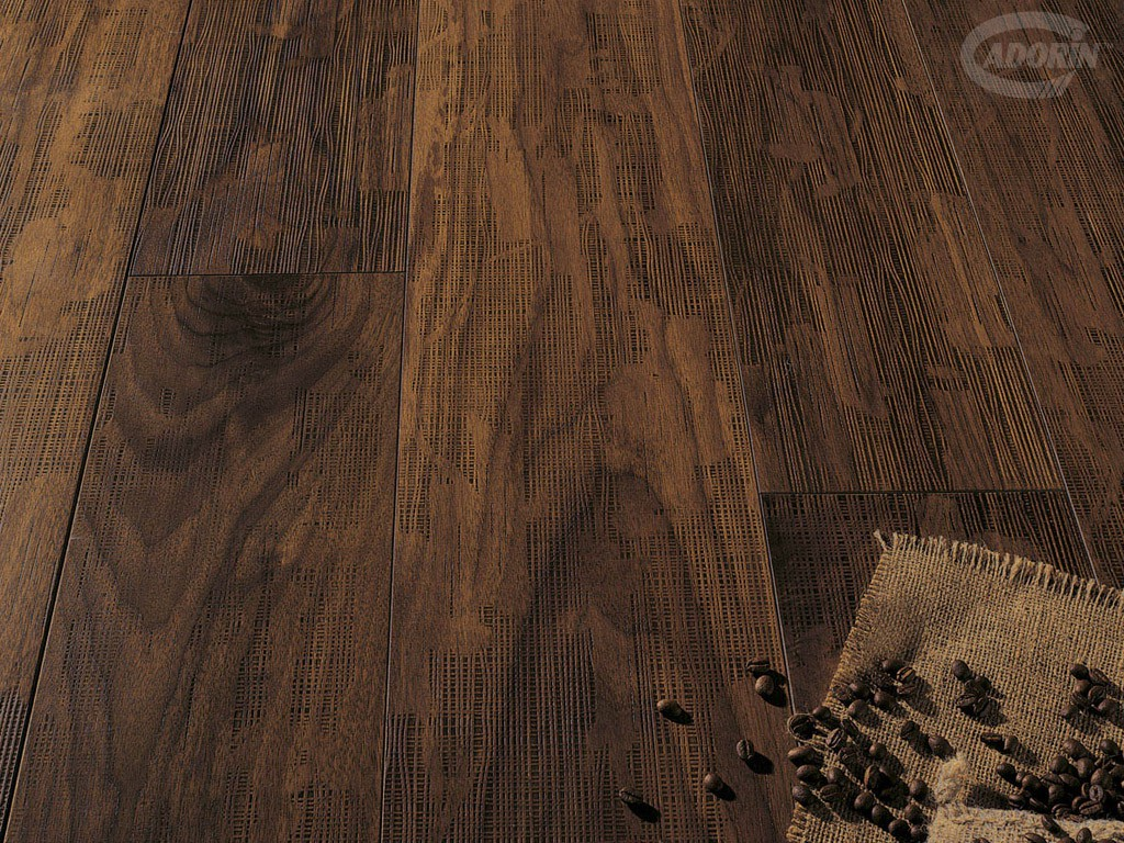 Woven Walnut - texture - Antiqued varnished