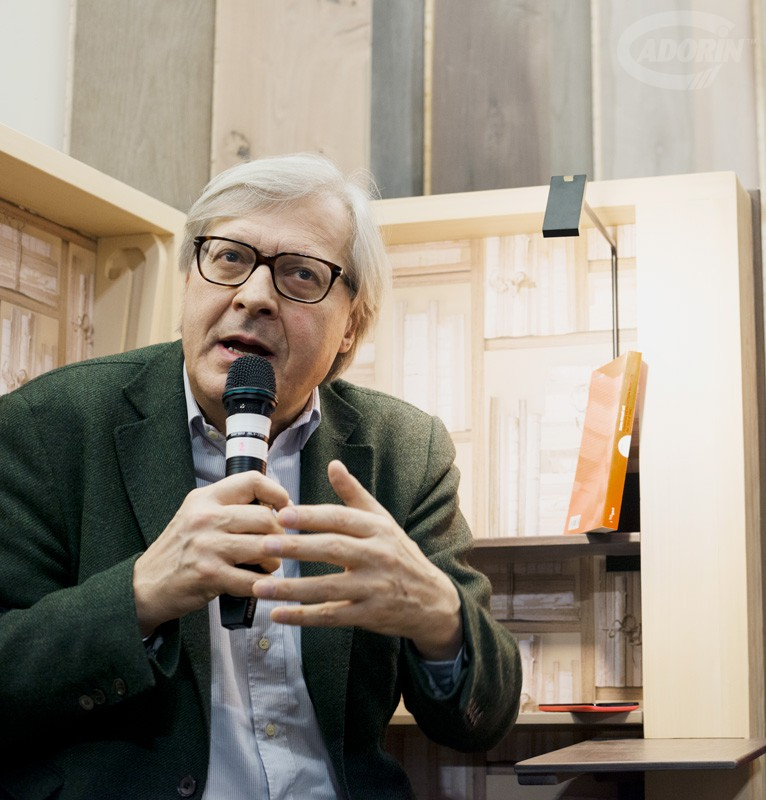 Bookchair with Vittorio Sgarbi -