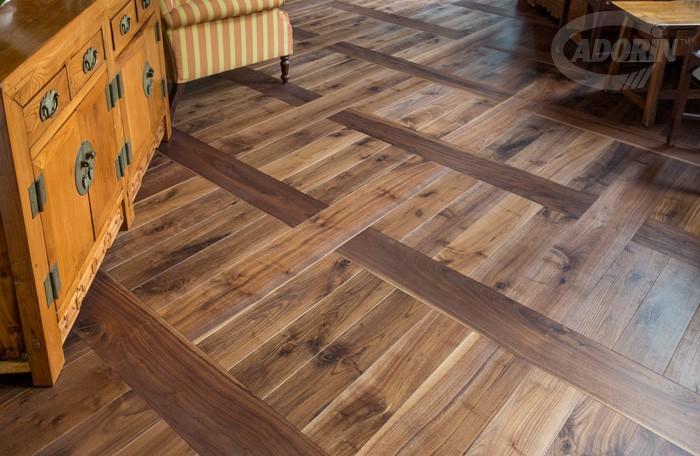 Rustic American Walnut Flooring Pattern Cadorin