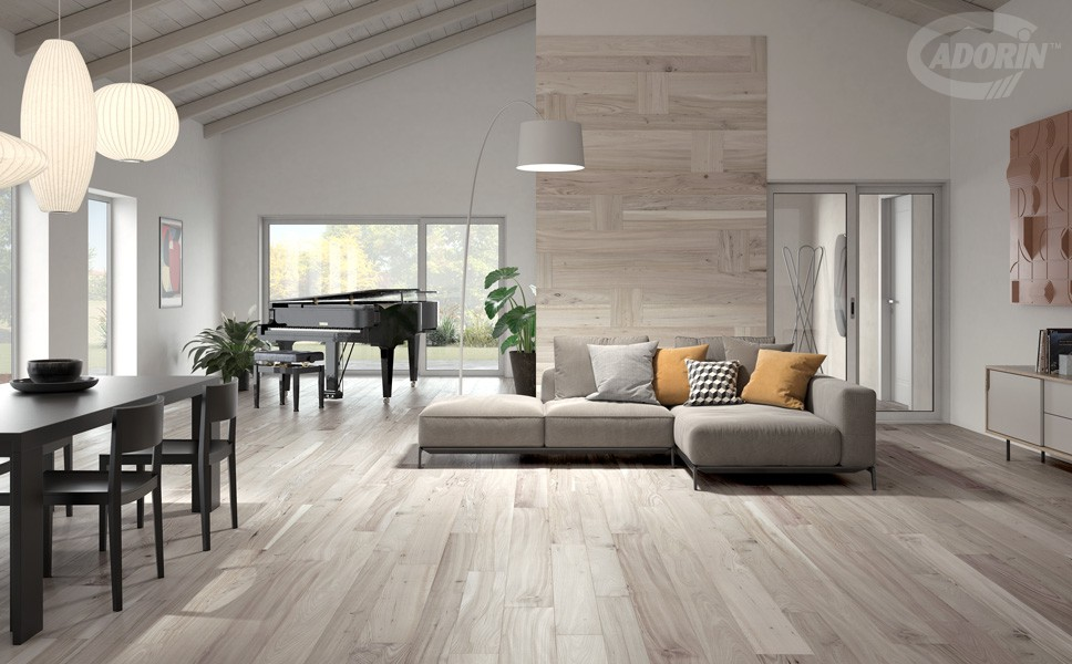 White Rose Casera Elm - Wood floor and wall cladding - Brushed