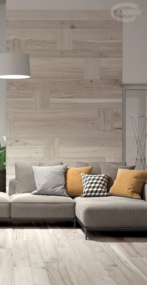 White Rose Casera Elm wall covering - Brushed