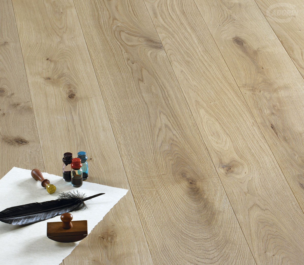 European Small Knots Oak - Brushed and rough effect varnished