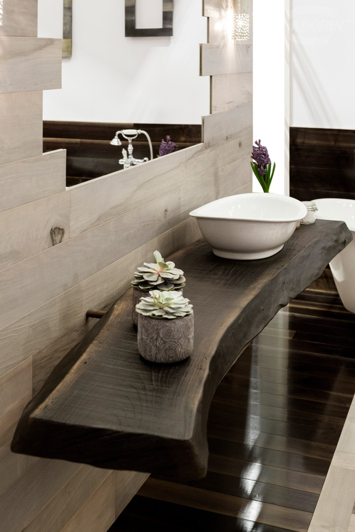 Bathroom sink top - Old Noghera - Volcano finish