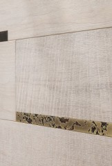 Wall coverings - Sawn and Brushed Hard Maple with metal inserts
