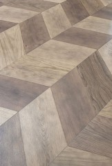 Chevron 60 Module - European mix oak - Brushed, Dolomia Rock finished