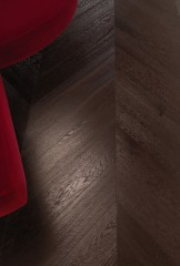Chevron 45° Module - European Oak - Dark Wenge varnished – Brushed