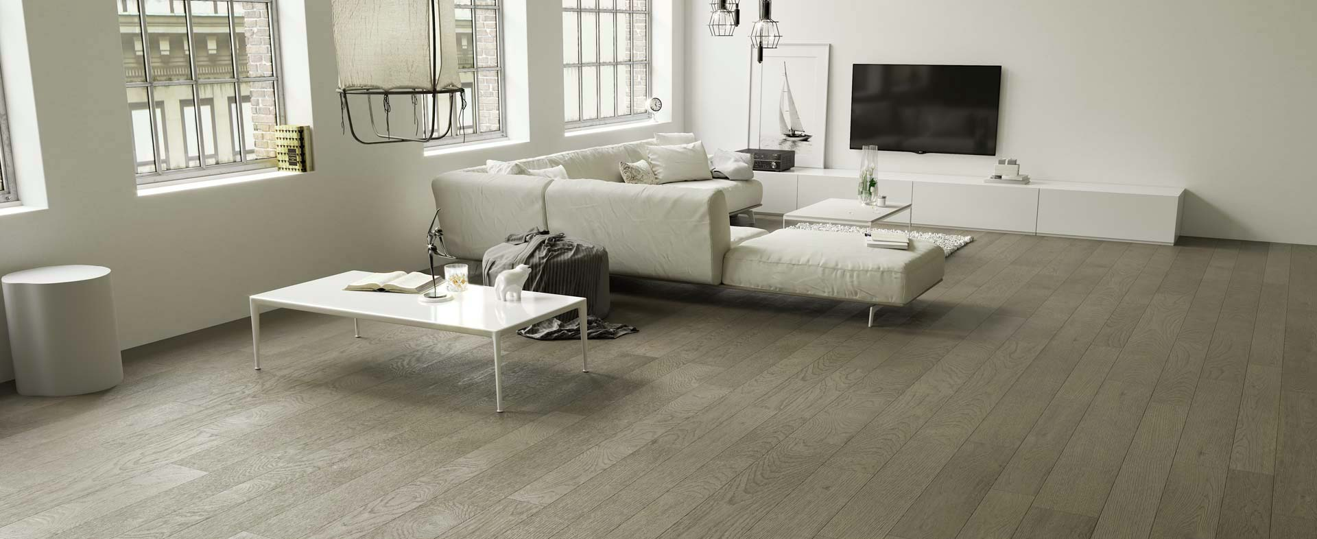 Grey Sand Oak sandblasted Elite Planks
